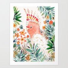 BOOFUS the Major Mitchell's Cockatoo Art Print