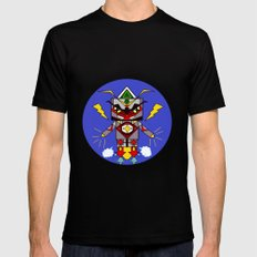 robot SMALL Black Mens Fitted Tee