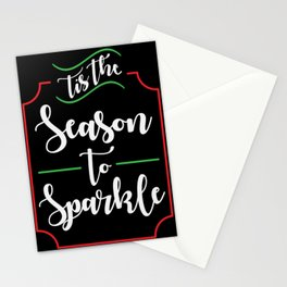 'Tis the Season to Sparkle Stationery Cards