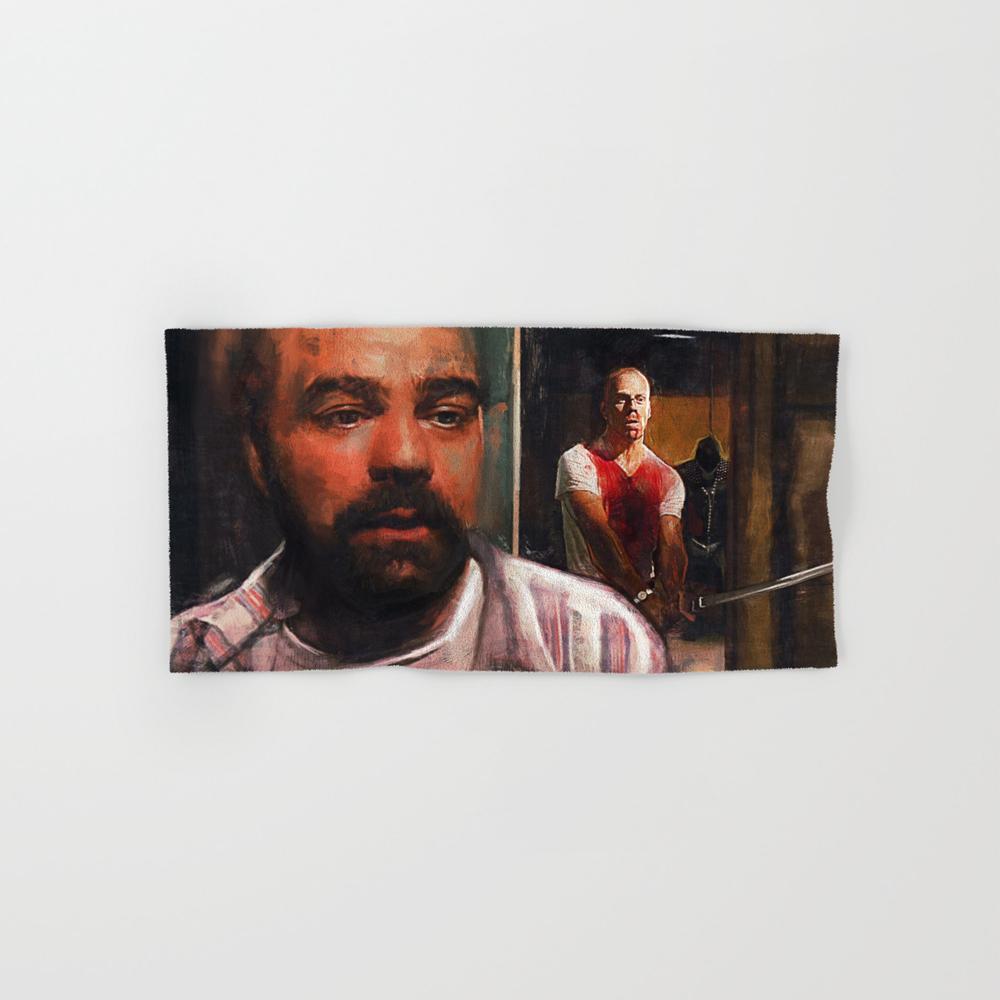 Pulp Fiction Zed And The Gimp Hand Towel by Lensebender BTL7840039
