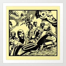 Comic X Art Print