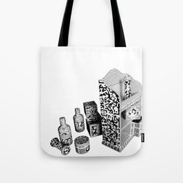 Black and White Everyday Life Internet of Things Tote Bag