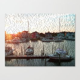 Canal Drive Canvas Print
