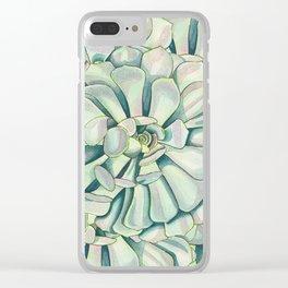 Succulent Petals Clear iPhone Case