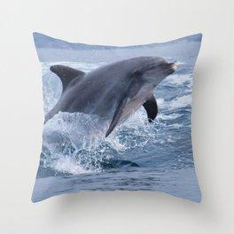 Bottenose dolphin Throw Pillow