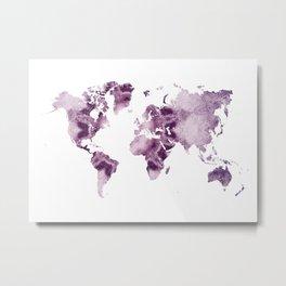 world map art 7 Metal Print