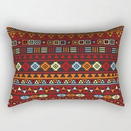 Aztec Influence Ptn IV Orange Red Blue Black Yellow Rectangular Pillow