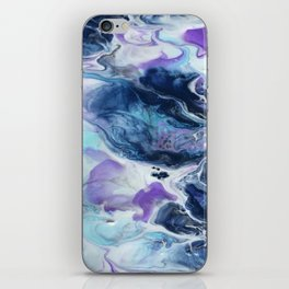Navy Blue, Teal and Royal Purple Marble iPhone Skin
