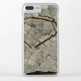 Autumn Tree in Stirred Air (Winter Tree) by Egon Schiele Clear iPhone Case