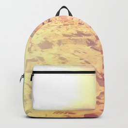 Sunny color gradient beach pastel sun sand Backpack