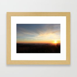 Black Balsam Knob Sunrise Framed Art Print