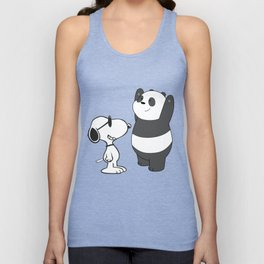 snoopy with bears Unisex Tank Top
