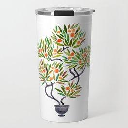 Bonsai Tree – Orange Fruit Travel Mug