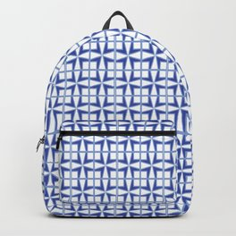 Squares and triangles pattern blue Backpack