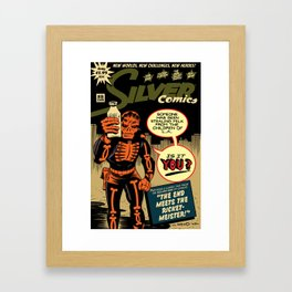 Silver Comics #8, 2008 Framed Art Print