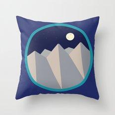 Day Mountain, Night Mountain Throw Pillow