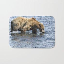 Brown Bear Going for a Dip Bath Mat