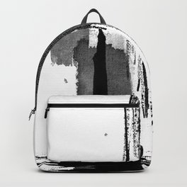 Black white abstract Backpack