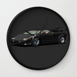 Lamborghini Countach 5000QV Nero Tenebre (US spec) Wall Clock