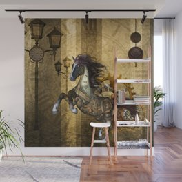 Awesome steampunk horse Wall Mural