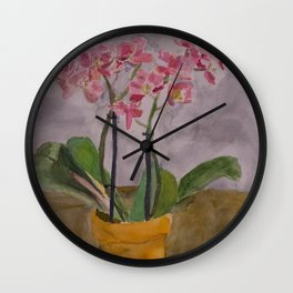Second Chance Orchids Wall Clock
