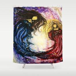 Faceless Gemini Shower Curtain