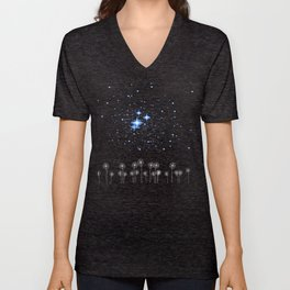 Dandelion Starry Night Sky Unisex V-Neck