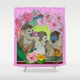 wise monkeys 3.0 Shower Curtain