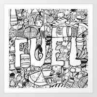 pocket fuel Art Prints featuring Fuel by J.E.C. Scott