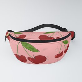 Cherry Cute Fruit Collage Food Fun Summer Pattern Fanny Pack