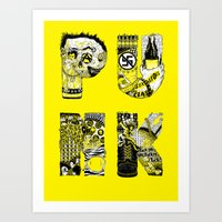 punk Art Prints featuring PUNK by René Barth