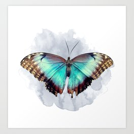 The beautiful & the broken : Iridescent butterfly Art Print