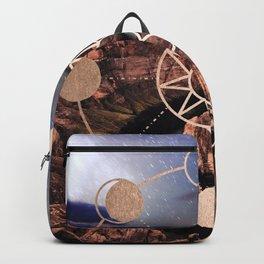 Mandala Southwest Desert Sun and Moon Phases Backpack