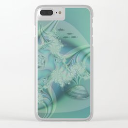 Fantasy ocean with shells and fish Clear iPhone Case