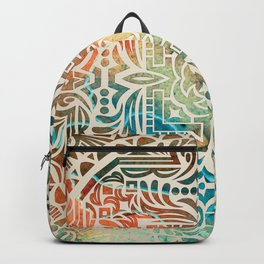 mandala16 Watercolor Mandala Backpack