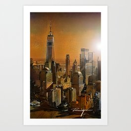 New York Dawn Art Print