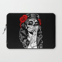 Girl With Sugar Skull, Day of the Dead Laptop Sleeve