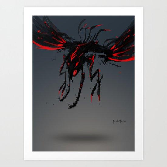 Red Clan Sweeper Art Print