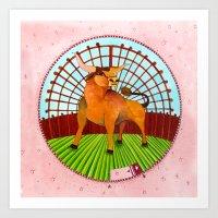 taurus Art Prints featuring Taurus by Sandra Nascimento