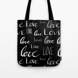 Painted Love on Black Tote Bag