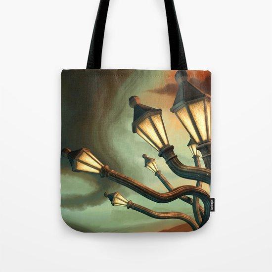 Drunk Streetlamps Tote Bag