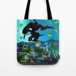 Exploration 3D Aquarium ORCA Tote Bag