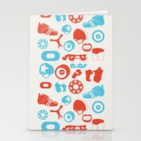 roller derby Stationery Cards featuring Roller Derby by RhiannonHeeley