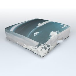 Mountain Morning - Nature Photography Outdoor Floor Cushion