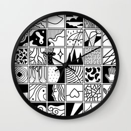 extraordinary spaces - pattern Wall Clock