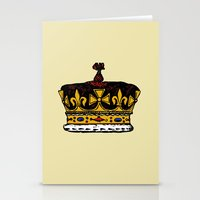 crown Stationery Cards featuring Crown by Michael Keene