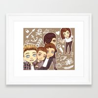 1d Framed Art Prints featuring 1D selfie by susumzee