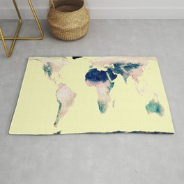 World Map : Gall Peters Pastel Rug