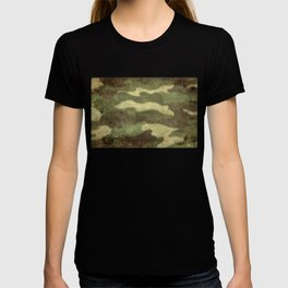 Distressed Camouflage T-shirt