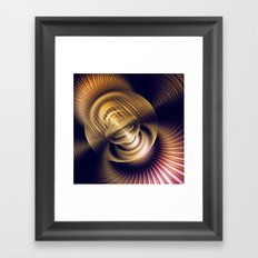 Magic in gold, fractal abstract in 3-D Framed Art Print